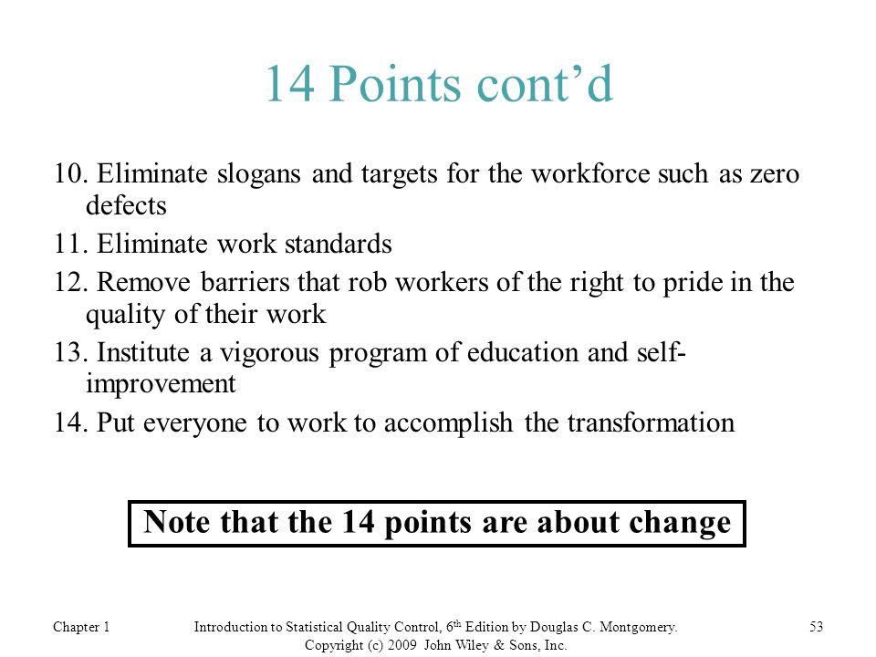 Note that the 14 points are about change