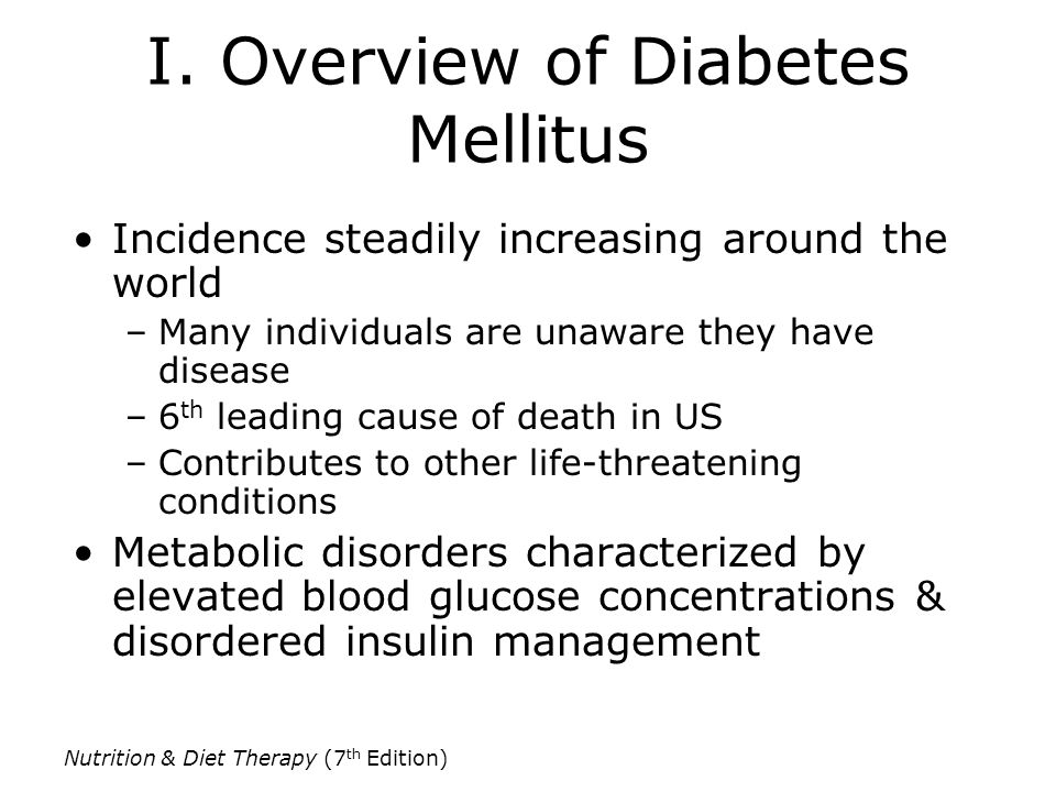 I. Overview of Diabetes Mellitus