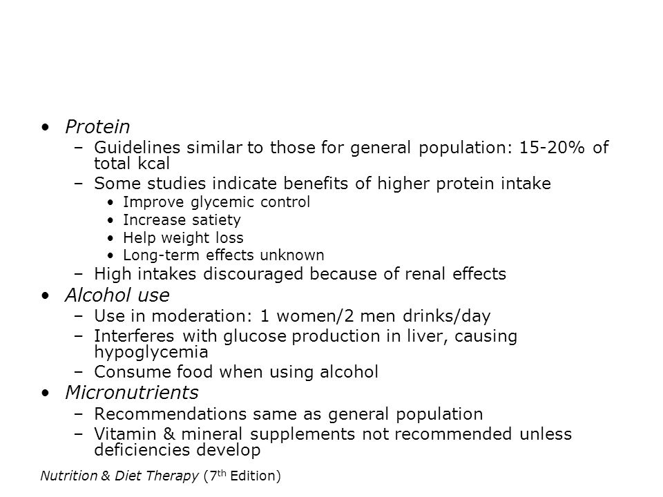 Protein Alcohol use Micronutrients