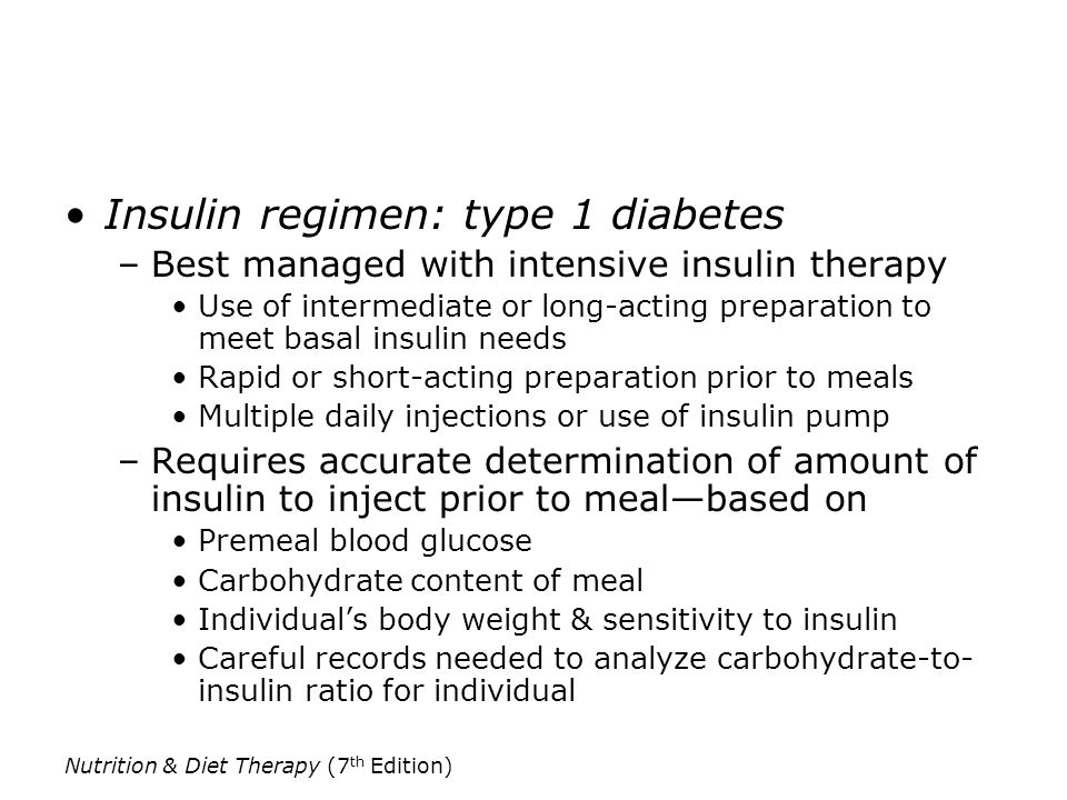 Insulin regimen: type 1 diabetes