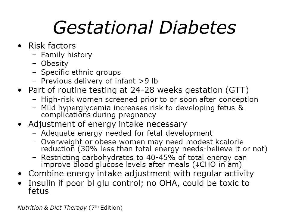 Gestational Diabetes Risk factors