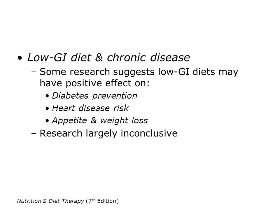 Low-GI diet & chronic disease