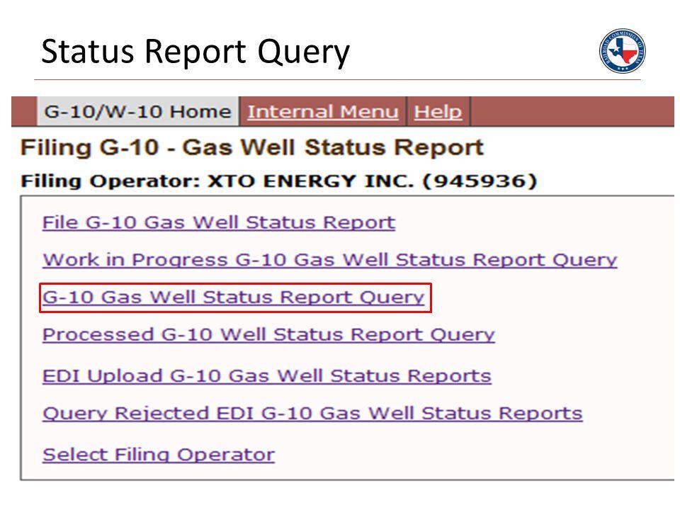 Status Report Query