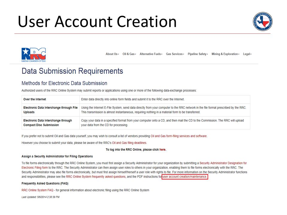 User Account Creation