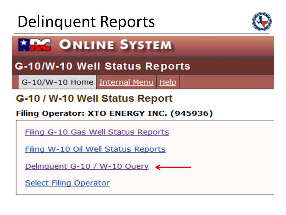 Delinquent Reports