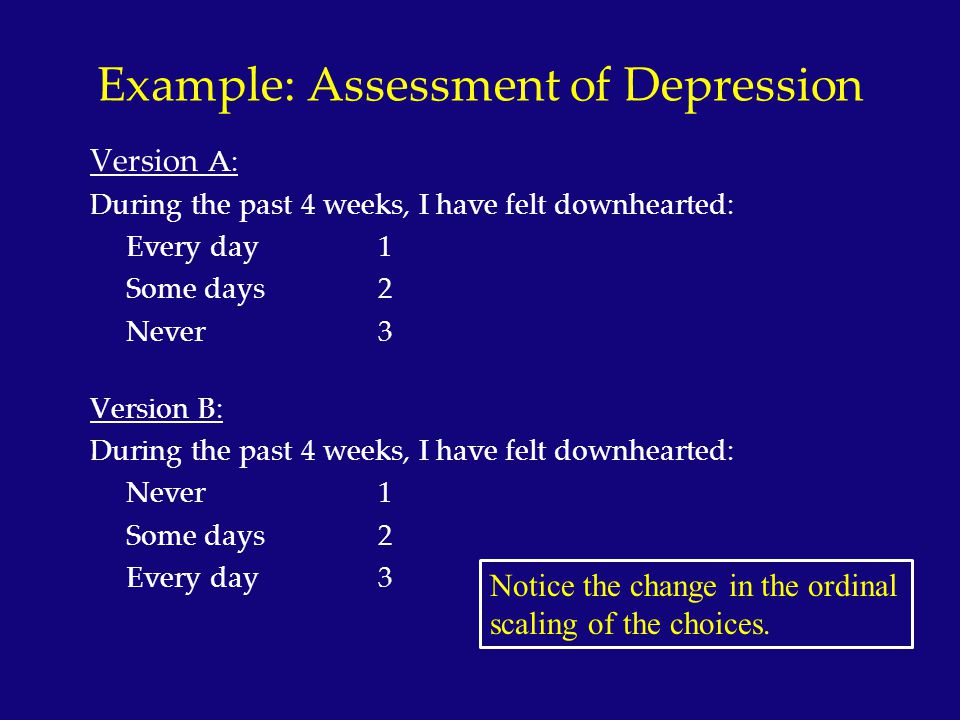 Example: Assessment of Depression