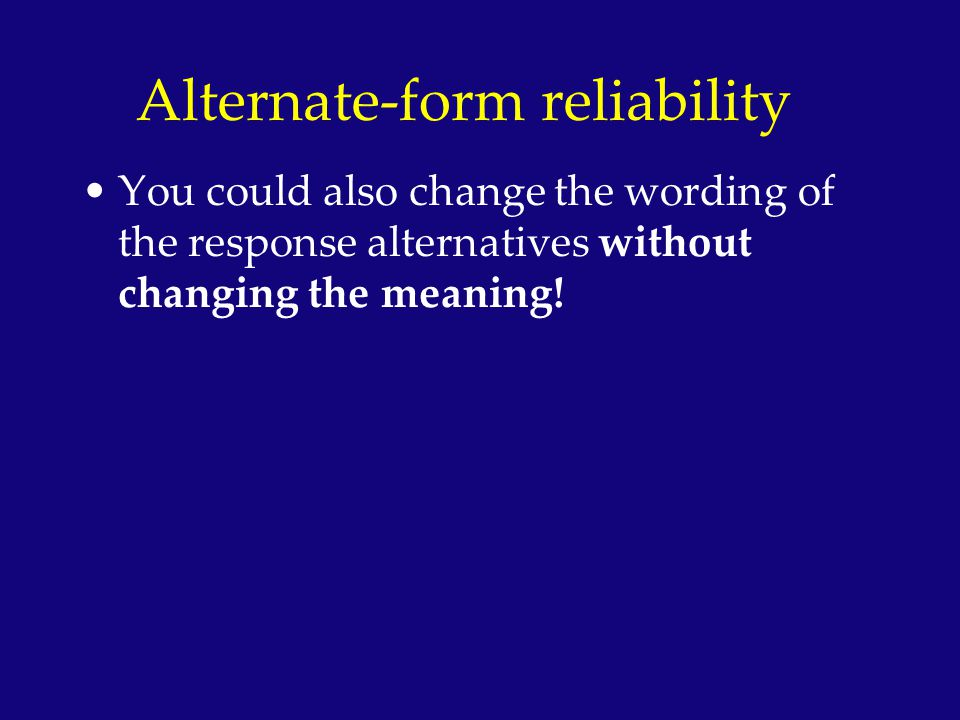 Alternate-form reliability