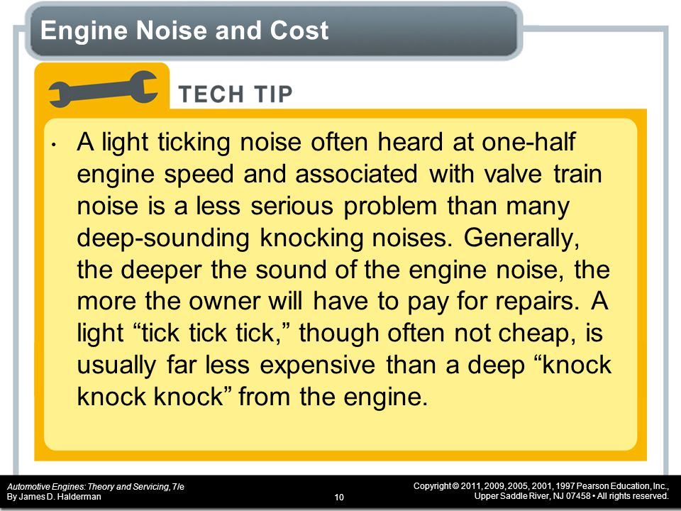 Engine Noise and Cost
