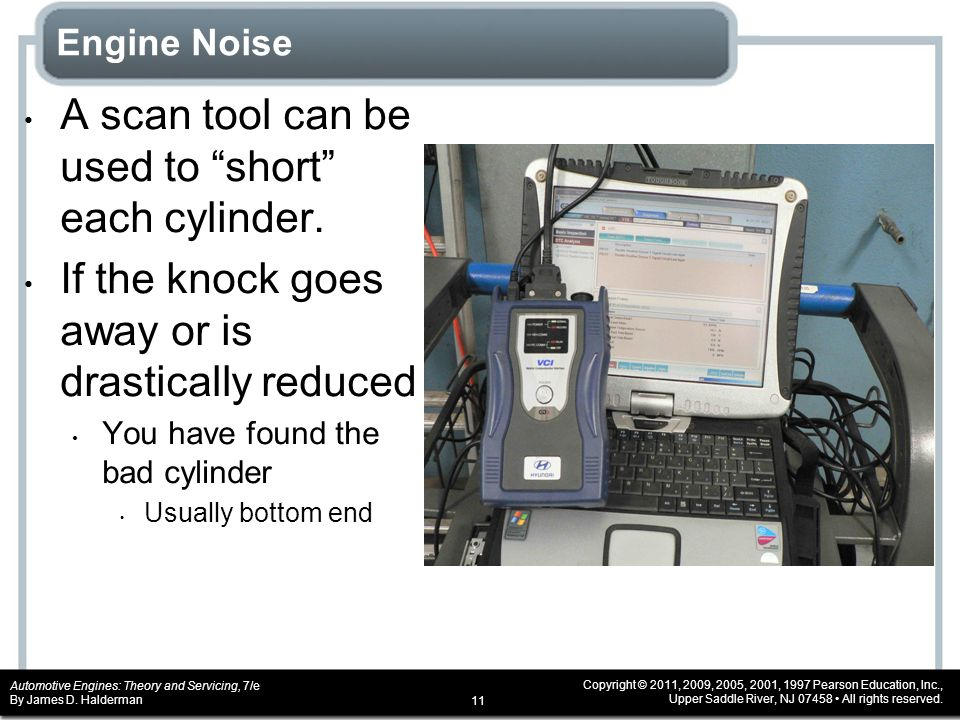 A scan tool can be used to short each cylinder.