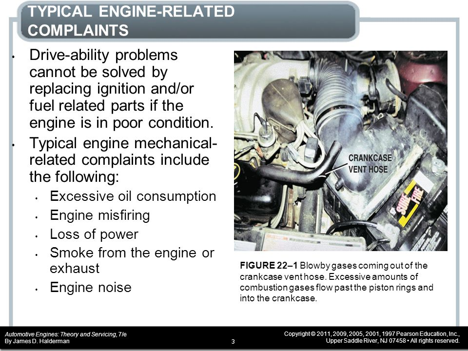 TYPICAL ENGINE-RELATED COMPLAINTS