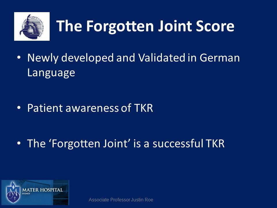 The Forgotten Joint Score