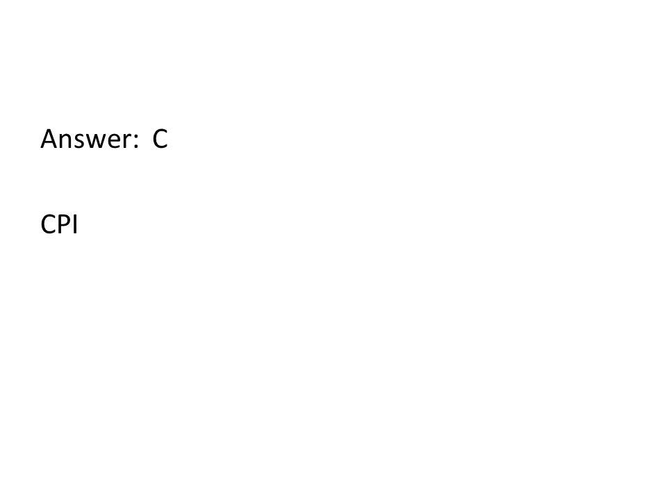 Answer: C CPI