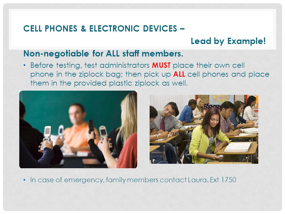 CELL PHONES & ELECTRONIC DEVICES – Lead by Example!