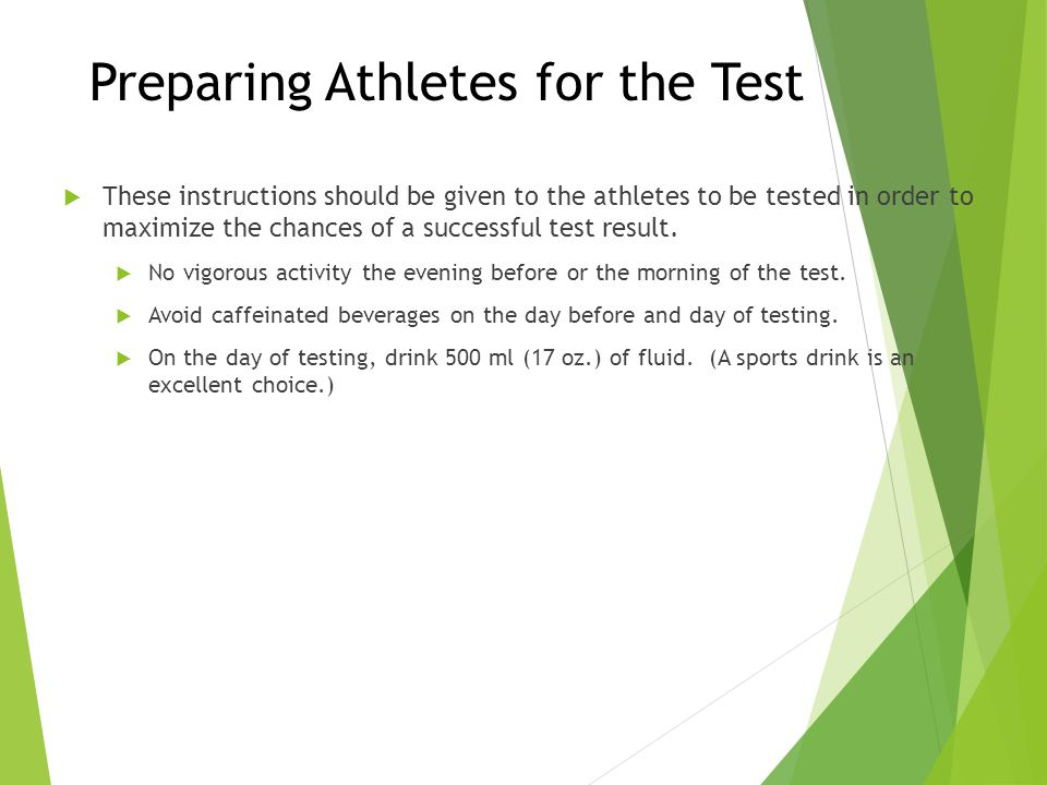 Preparing Athletes for the Test