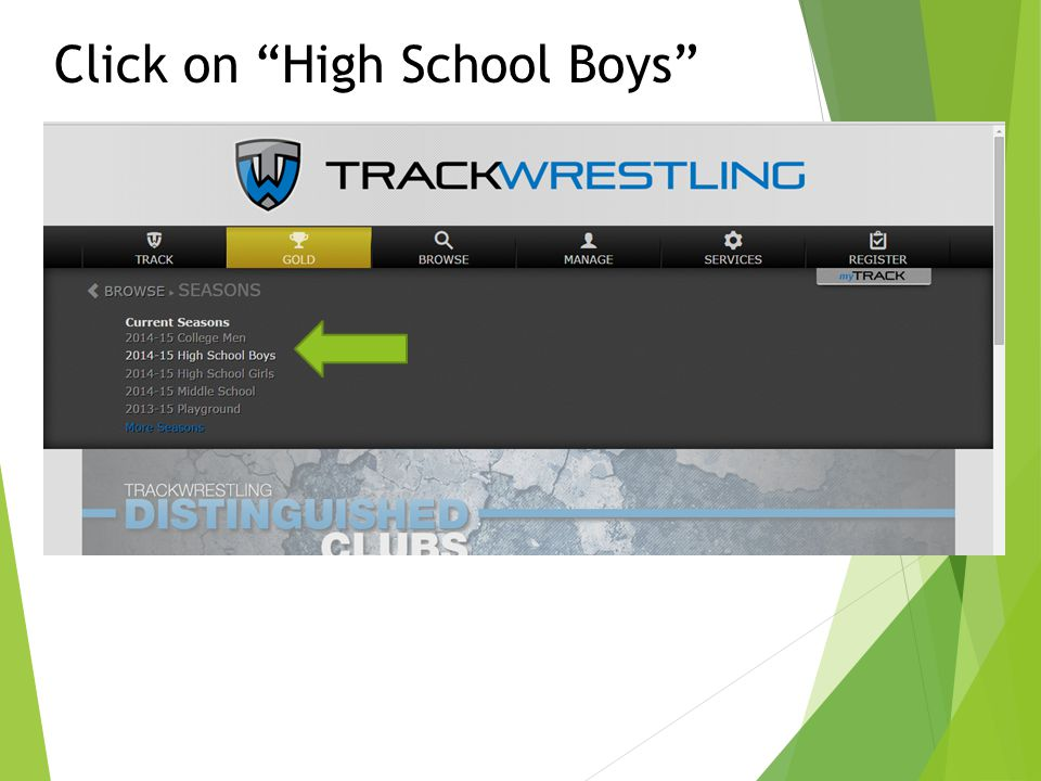 Click on High School Boys