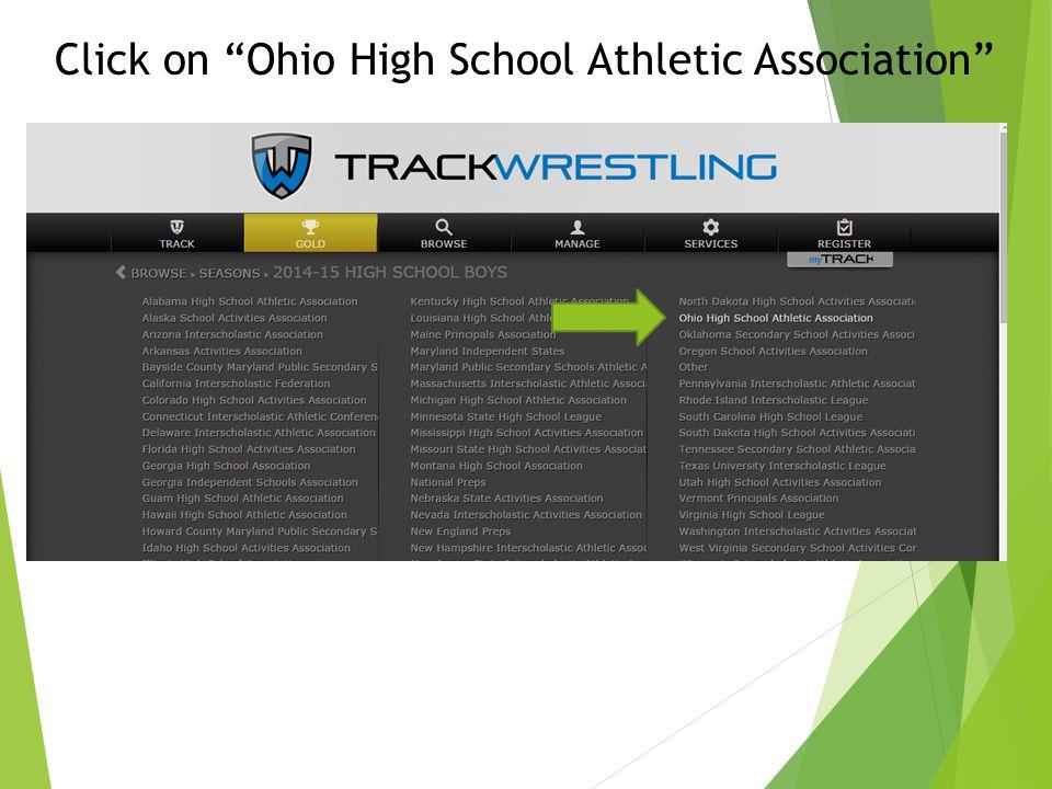 Click on Ohio High School Athletic Association