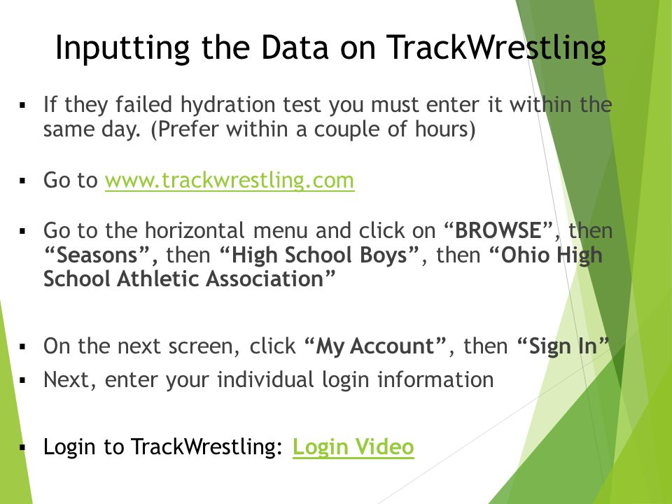Inputting the Data on TrackWrestling