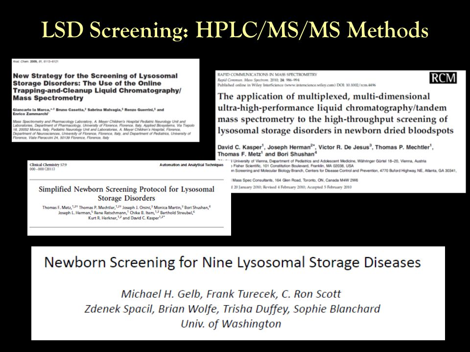 LSD Screening: HPLC/MS/MS Methods