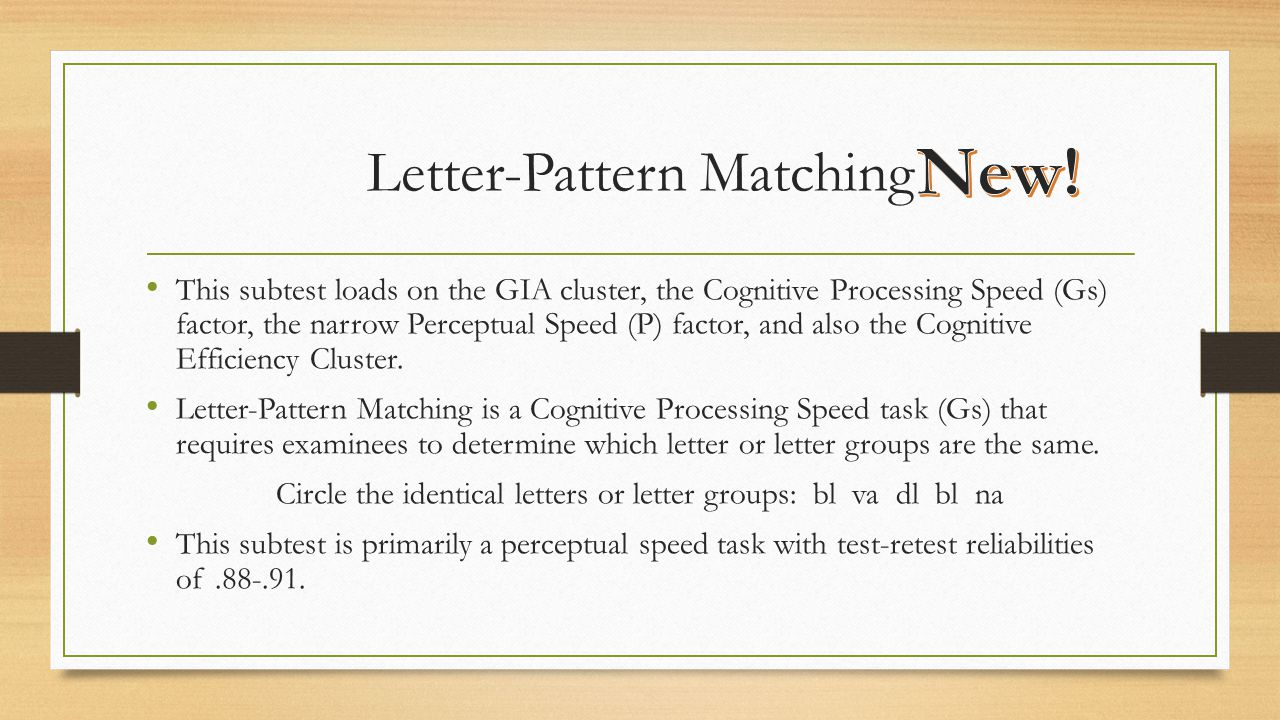 Letter-Pattern Matching