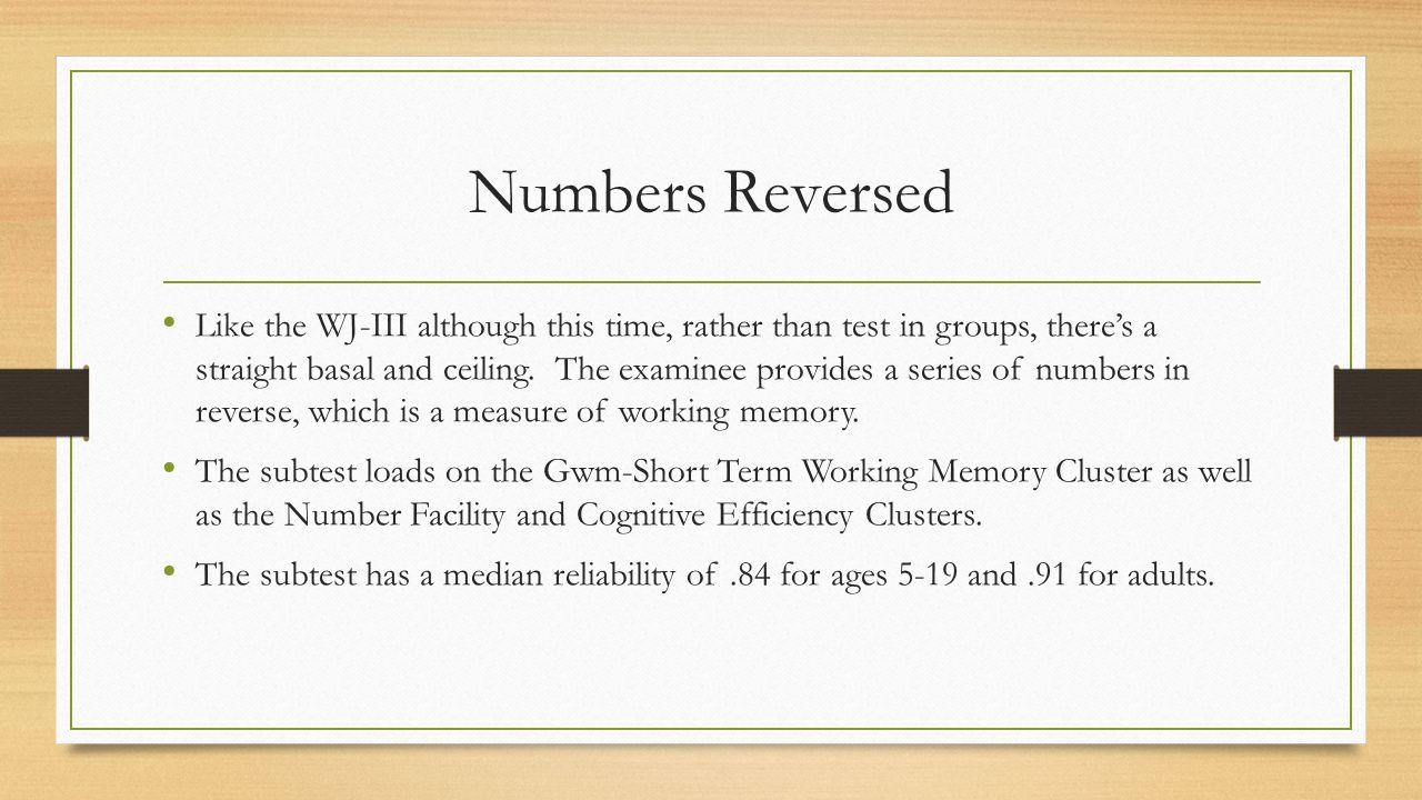 Numbers Reversed