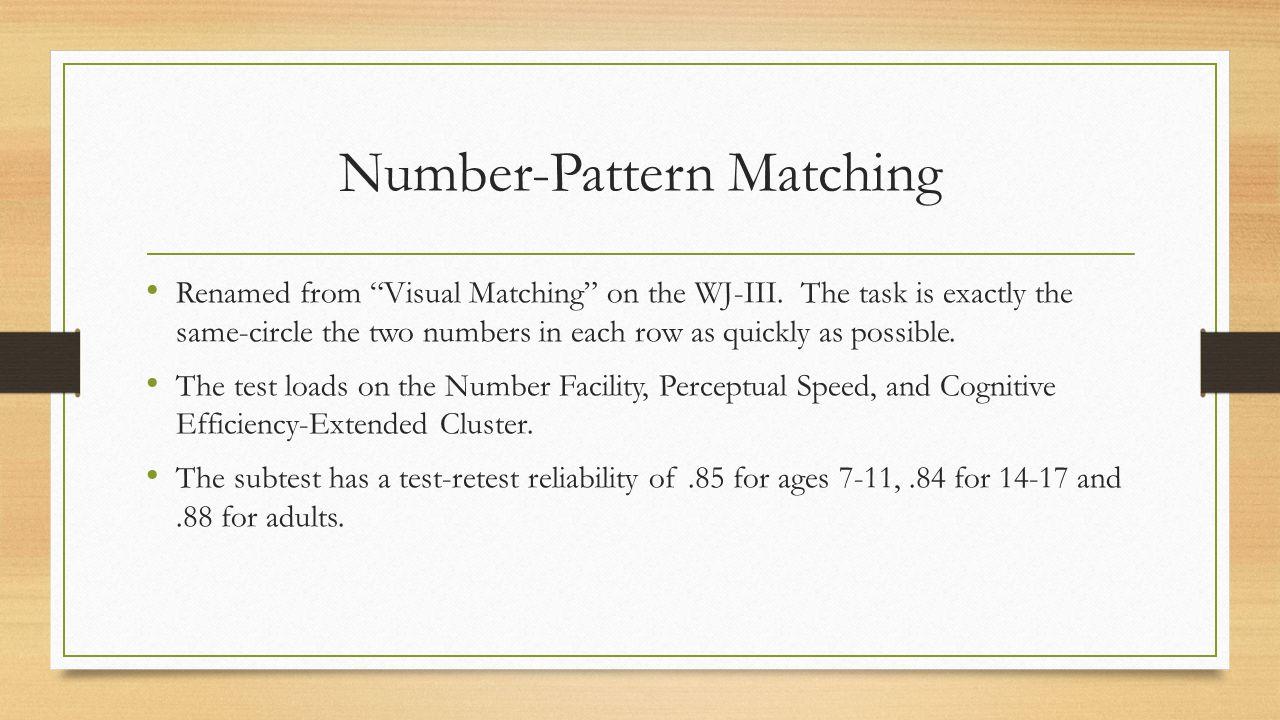 Number-Pattern Matching