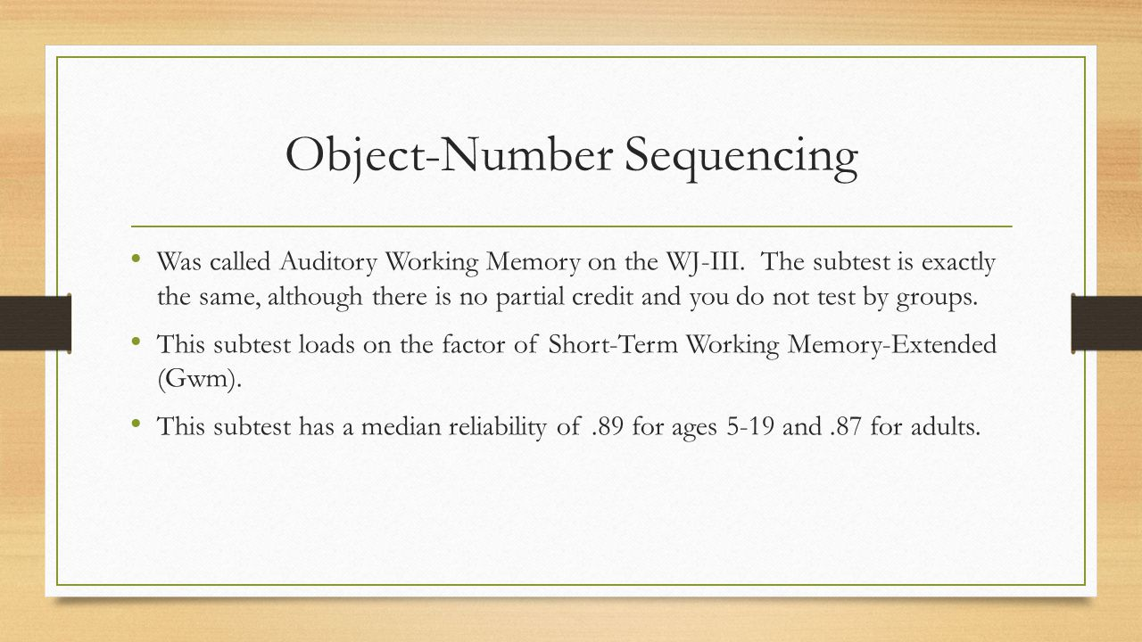 Object-Number Sequencing