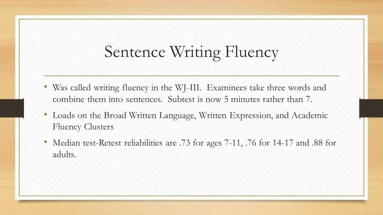 Sentence Writing Fluency