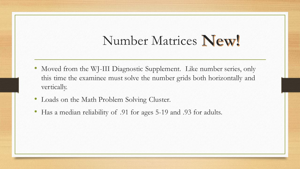 Number Matrices New!