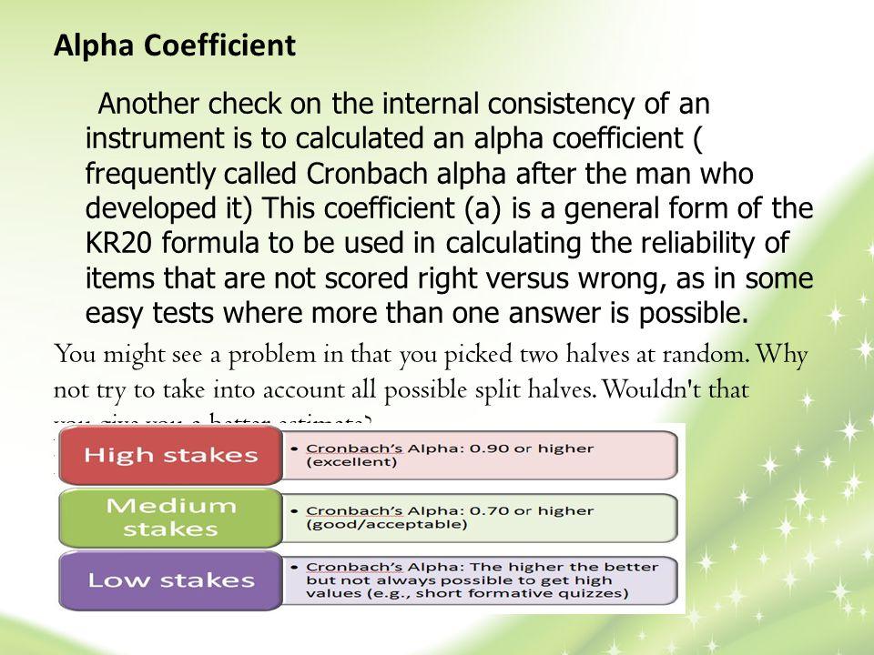 Alpha Coefficient