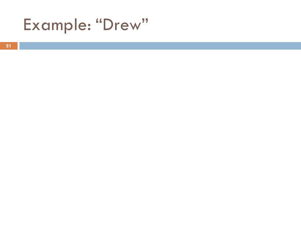 Example: Drew