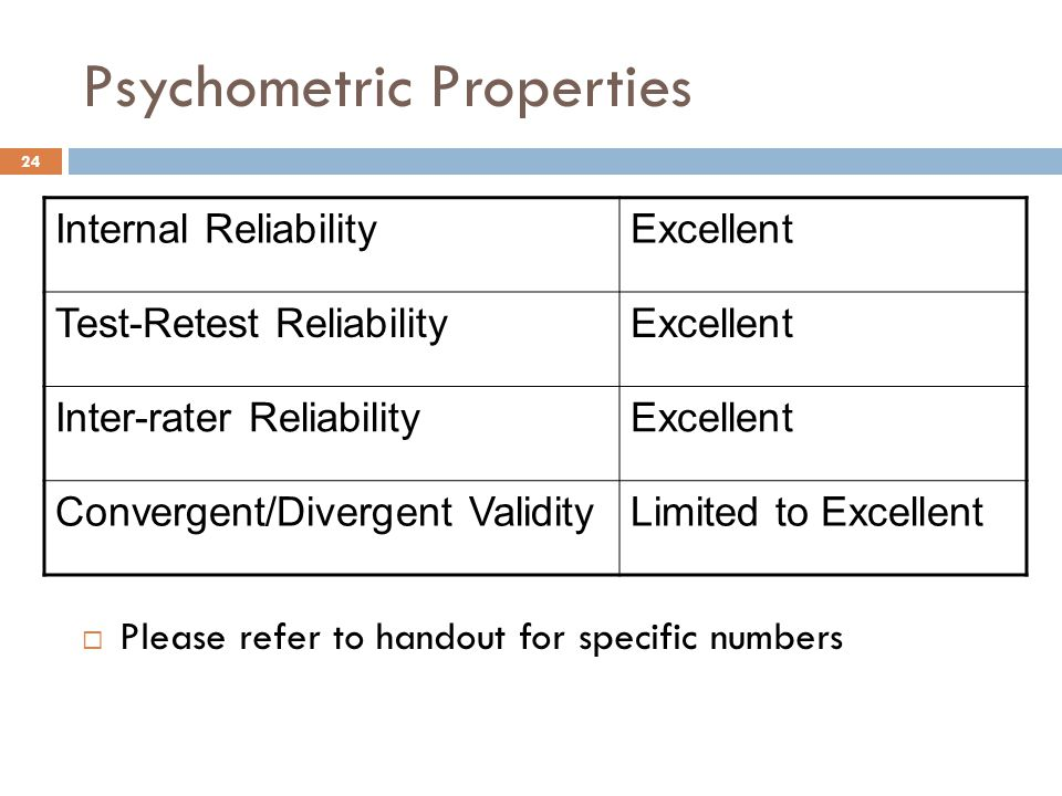 Psychometric Properties