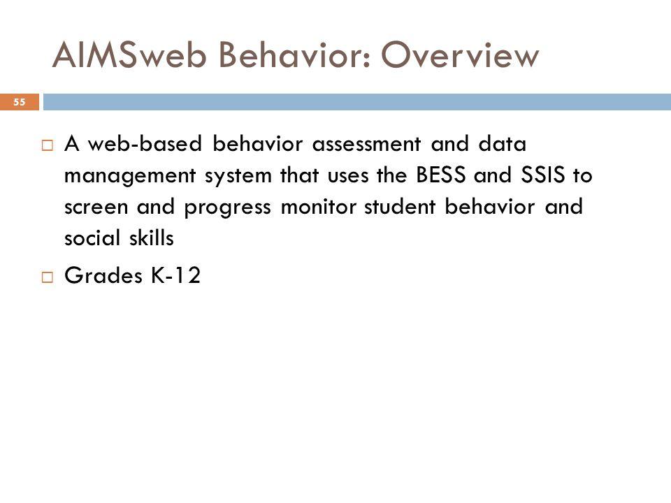AIMSweb Behavior: Overview