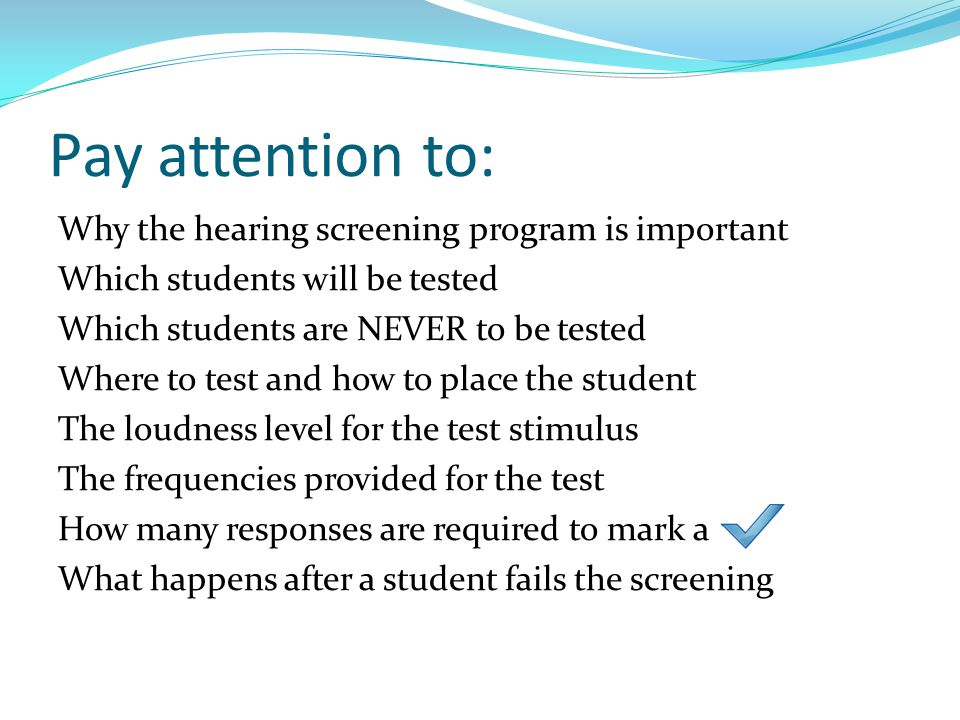 Pay attention to: Why the hearing screening program is important