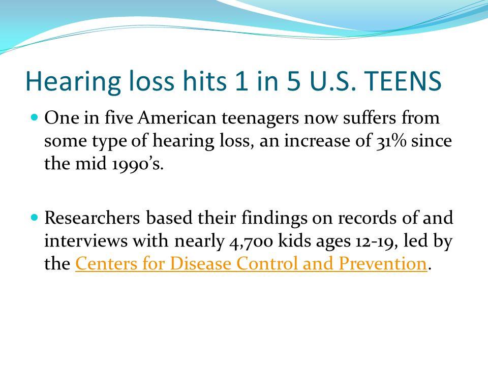 Hearing loss hits 1 in 5 U.S. TEENS