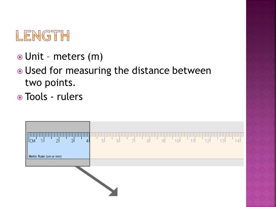Length Unit – meters (m)