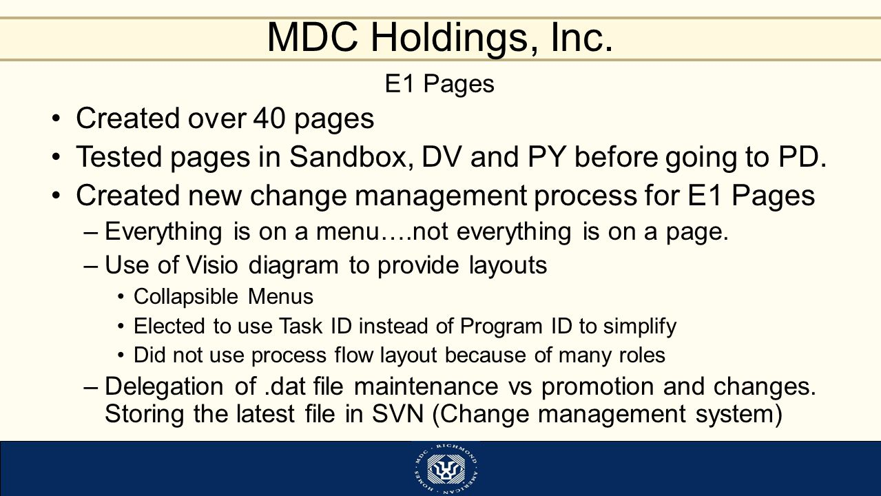 Tested pages in Sandbox, DV and PY before going to PD.