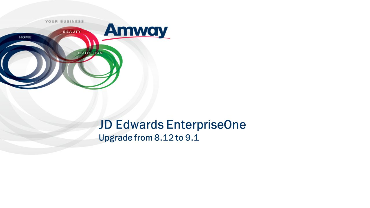 JD Edwards EnterpriseOne Upgrade from 8.12 to 9.1