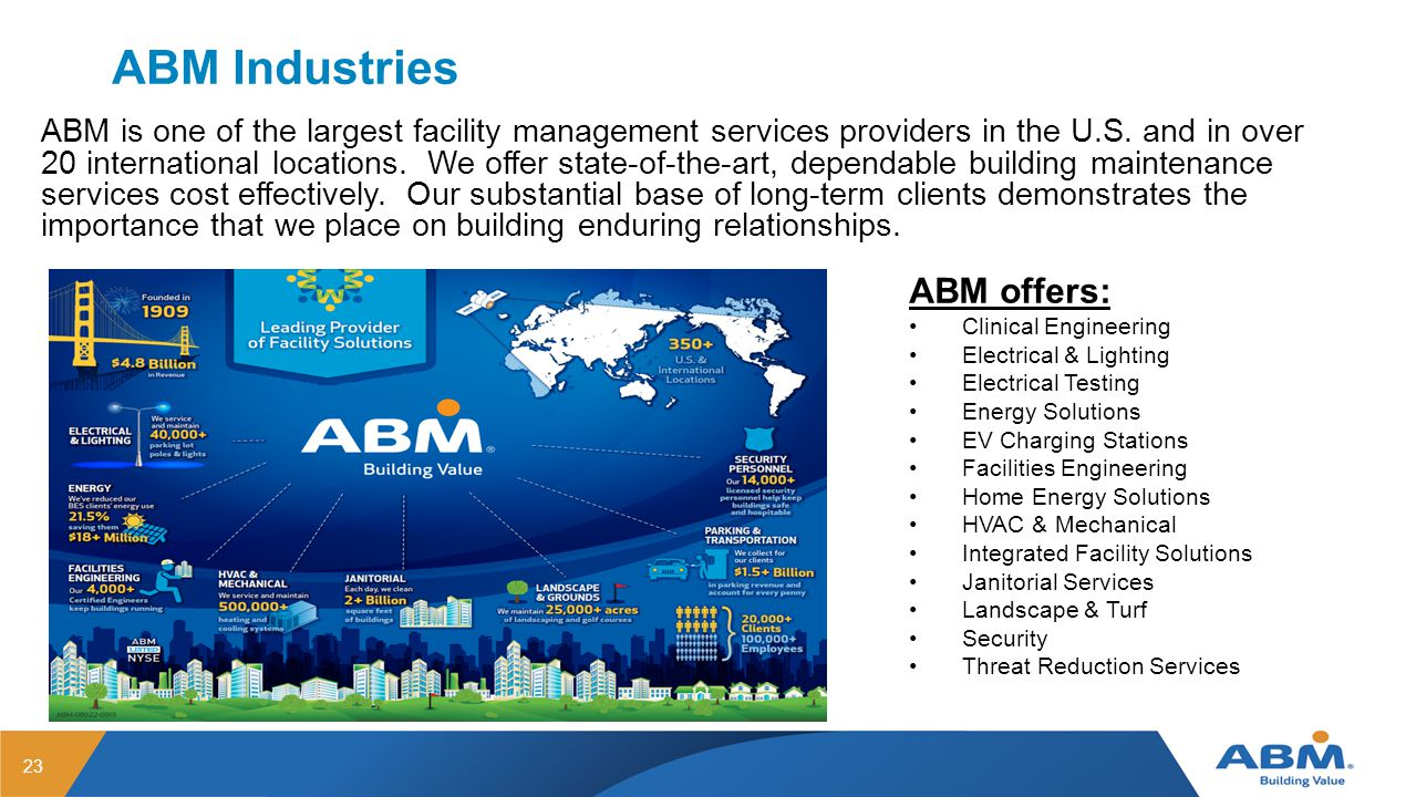 ABM Industries ABM offers: