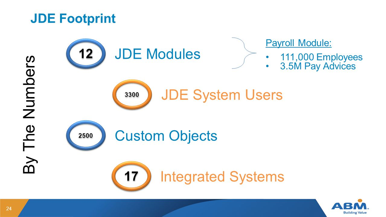 By The Numbers JDE Modules JDE System Users Custom Objects
