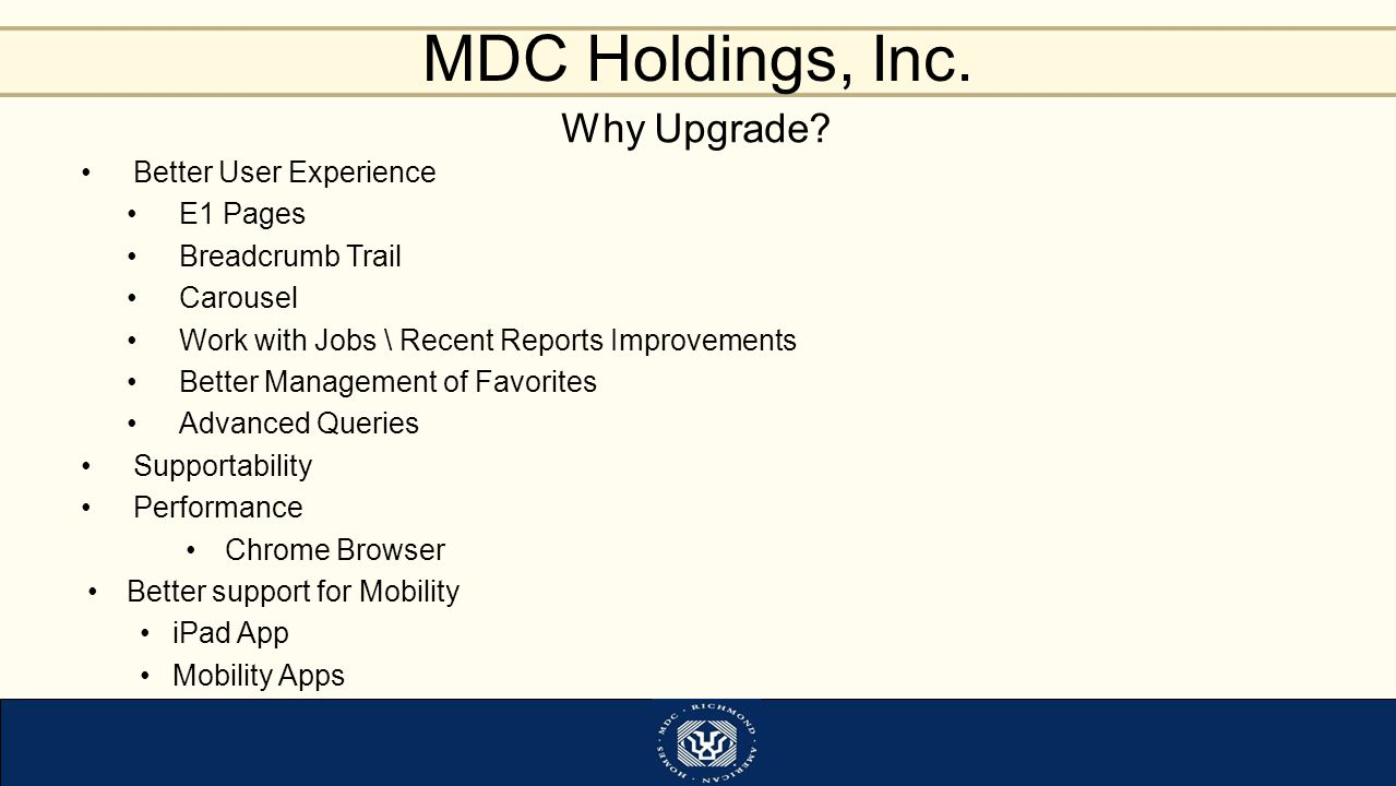 Why Upgrade Better User Experience E1 Pages Breadcrumb Trail Carousel