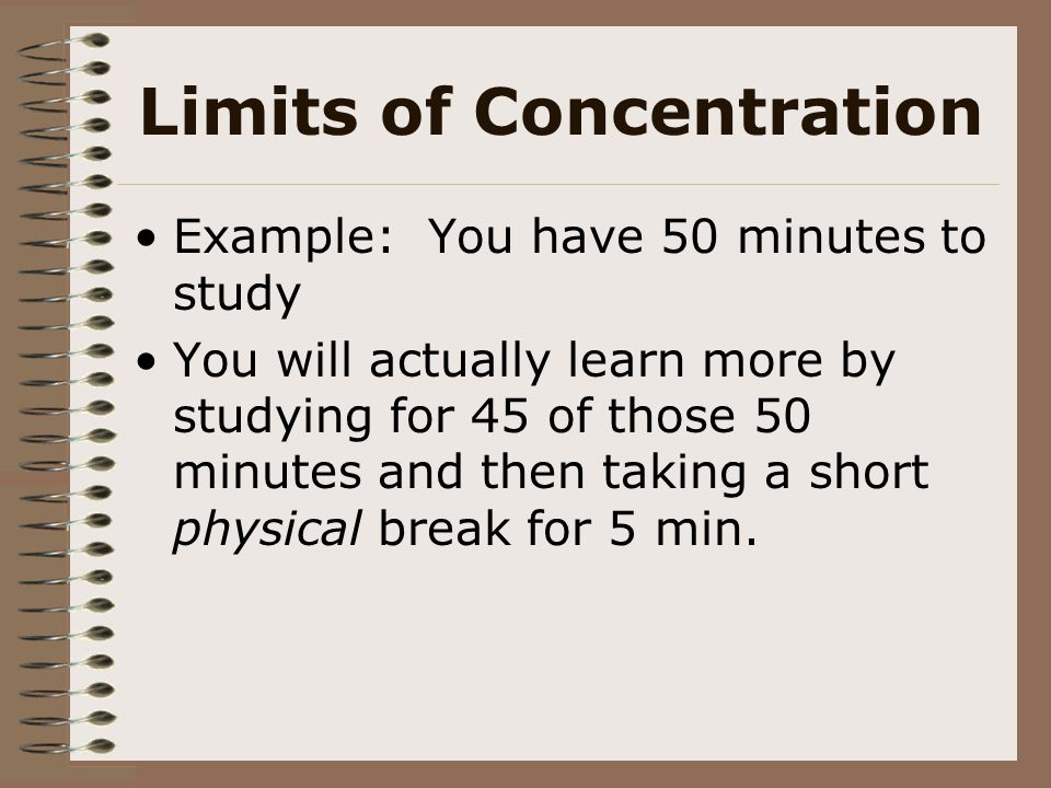 Limits of Concentration