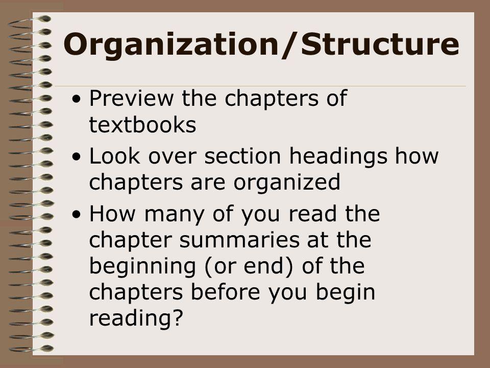 Organization/Structure