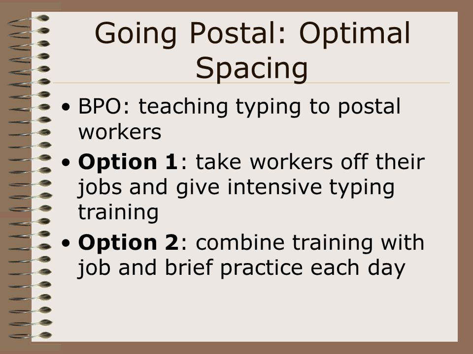 Going Postal: Optimal Spacing