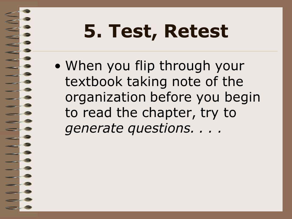 5. Test, Retest