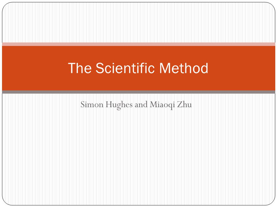 Simon Hughes and Miaoqi Zhu