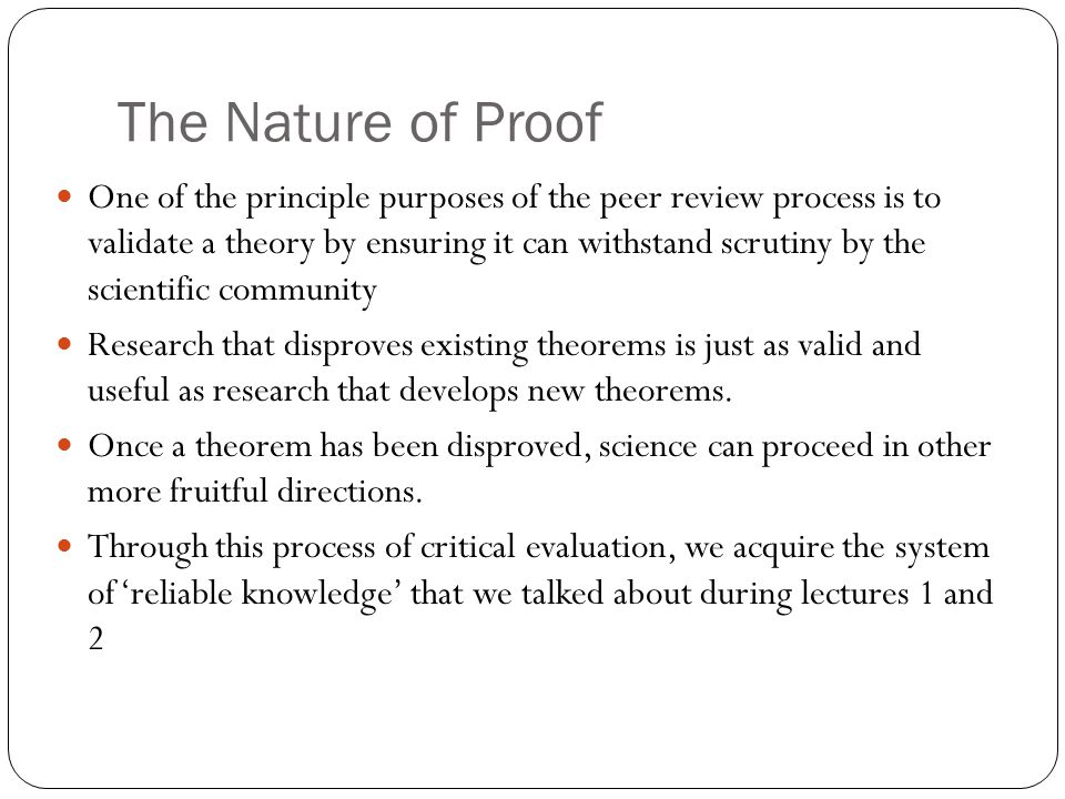 The Nature of Proof