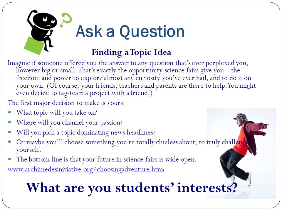 What are you students' interests