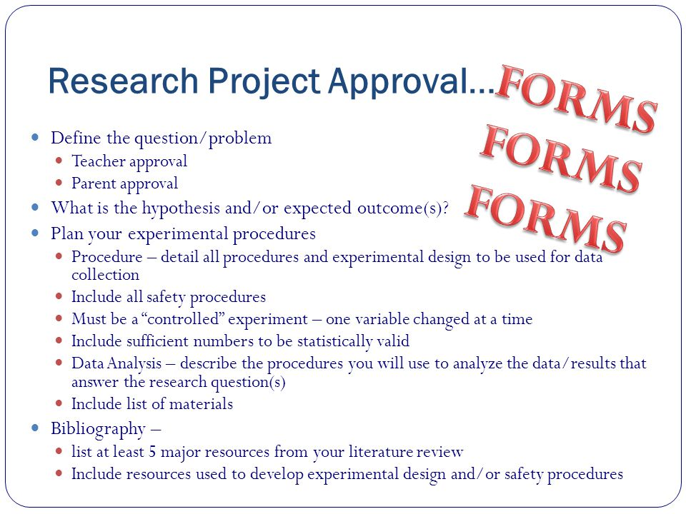 Research Project Approval…