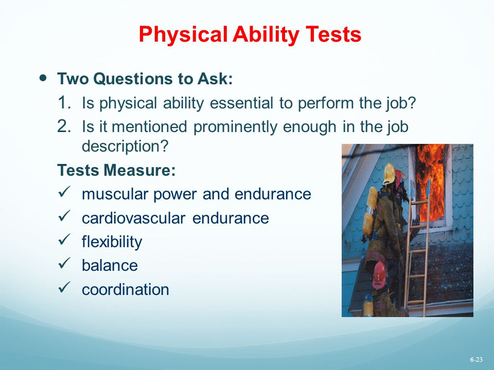 Physical Ability Tests