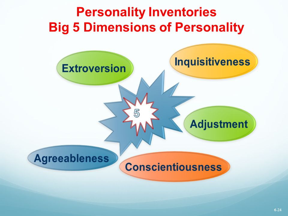Personality Inventories Big 5 Dimensions of Personality